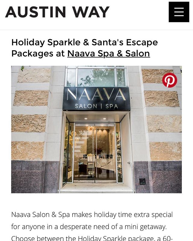 Thank you @austinwaymag for including us in your holiday spa article!