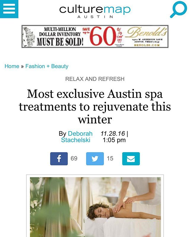 Thank you @culturemapatx for including NAAVA in your spa article!