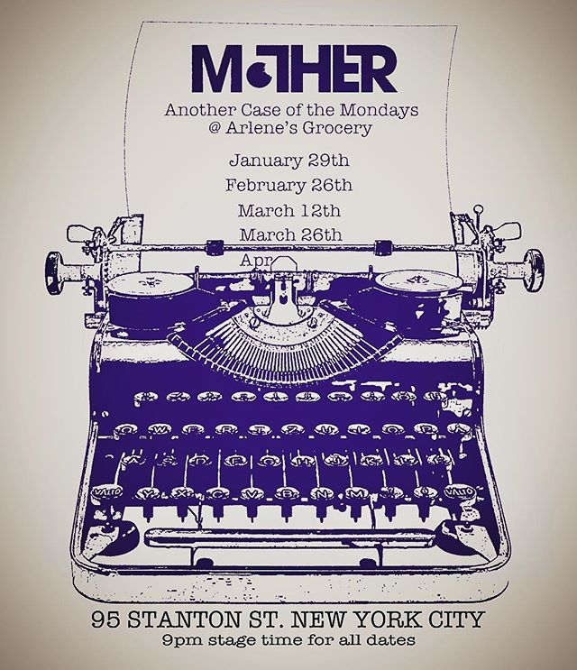 Check out our first quarter of dates at @arlenesgrocery for 2018! We are excited to be doing a year's worth of shows at our favorite NYC staple. Time to try out some new things! . . . #nyc #rocknroll #vintage #blues #typewriter #gigs #mondays #free #les #arlenesgrocery #live #music #karaoke #favorite #newyorkcity #manhattan #newyork #yes