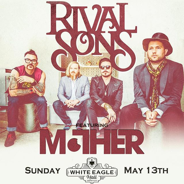 We are super stoked to announce sharing the stage with @rivalsons and @wellesmusic!!! The US leg ends right here in Jersey City at @whiteeaglehalljc. Tickets are on sale now through the venue. Contact us for any further info. Happy spring! . . . #rocknroll #news #stoked #mother #rockyourmother #rivalsons #welles #live #music #tour #stage #jerseycity #jc #whiteeaglehall #groovy #excited #poster