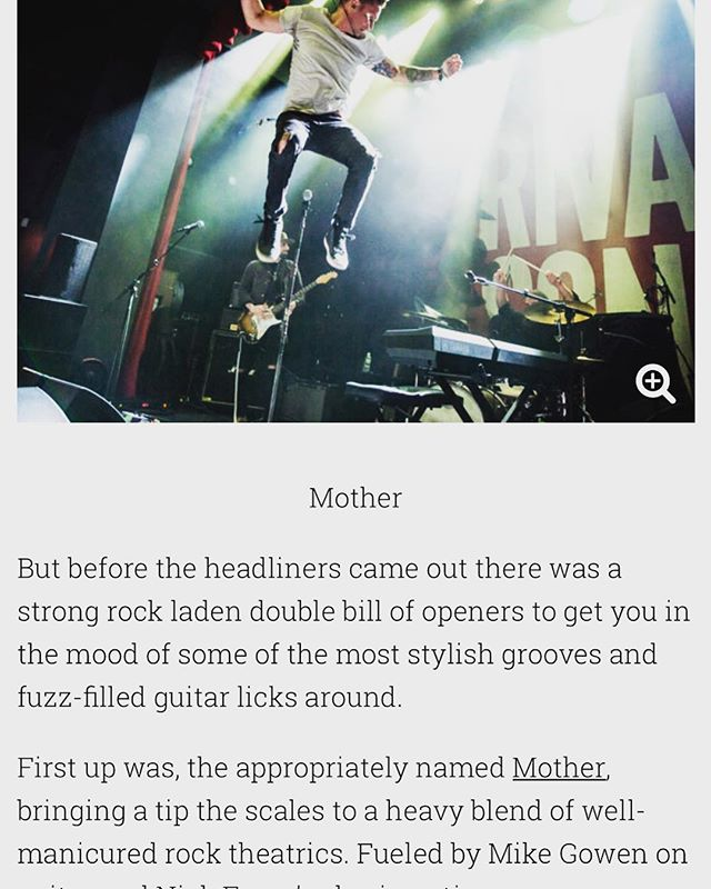 Thanks to @weallwantsomeone for a sweet review of our time with @rivalsons. Full story link in bio! We are now writing and finishing preproduction on a new release. Stay tuned... . . #rocknroll #mother #rockyourmother #article #review #press #write #jerseycity #jc #original #music #jump #live #groove #blues #rivalsons #tour #home