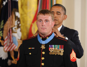 Dakota Meyer being awarded Medal of Honor by President Obama