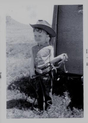 """""""Eklaka Lou"""" was the nickname for Kathy Carrig Holzer, August 1956, Ekalaka, Montana"""