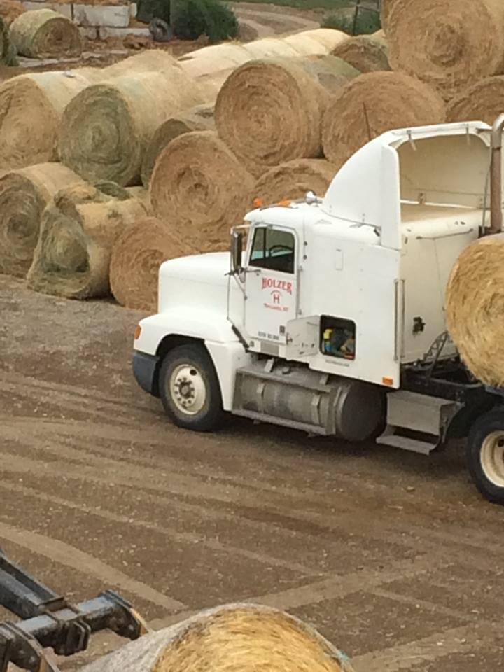 Keon Holzer's semi with hay