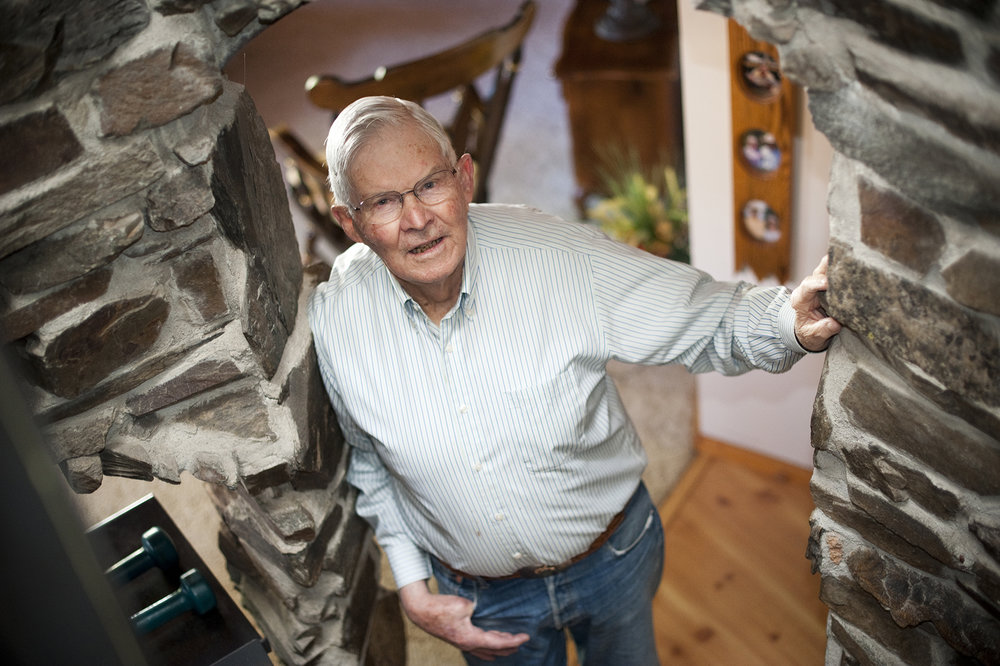 A recent photo of Jim at home in Bozeman, Montana. Photo by Lynn Donaldson