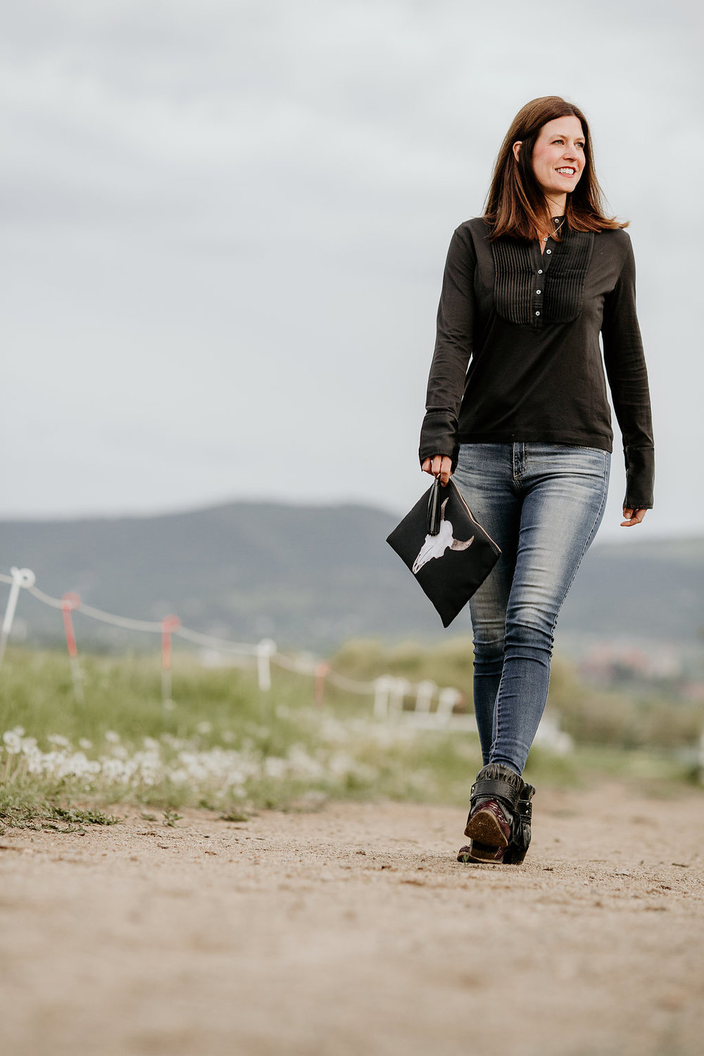 Montana Bones clutch and Canty Boots