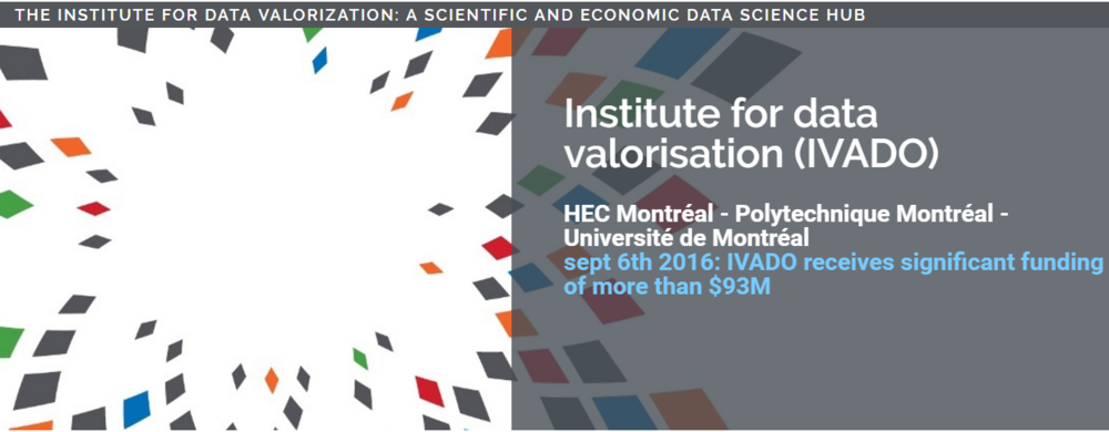 Institute for data valorisation - Data science