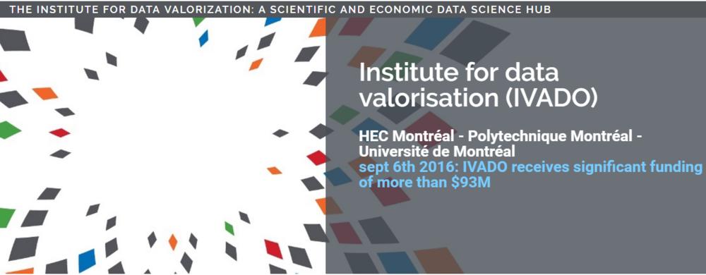 Institute for data valorisation - Data science