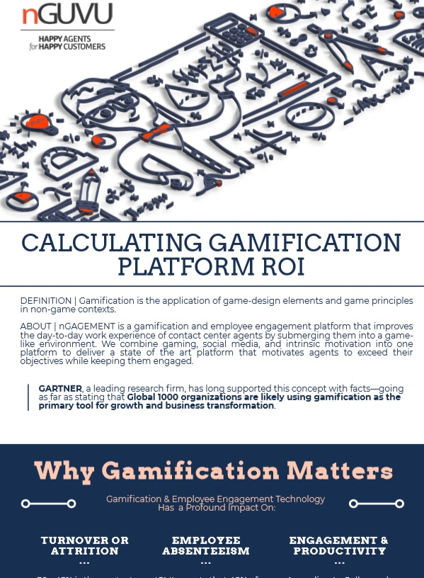 gamification and employee engagement roi calculating infographic