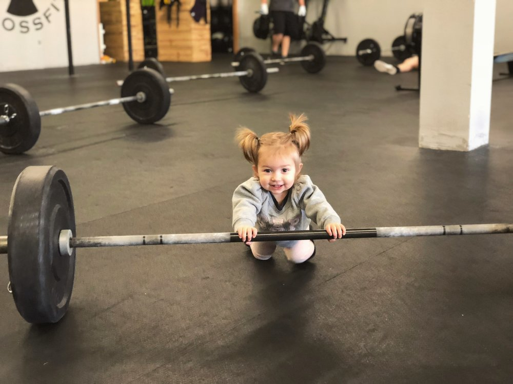 Baby Maddox working out!