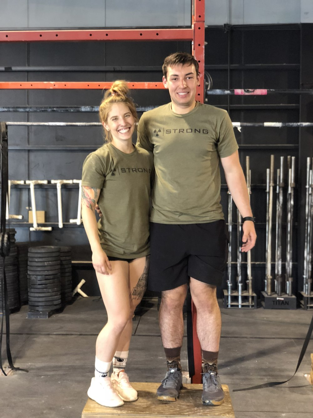 Zack and Liz won the Tough as Nails charity competition!