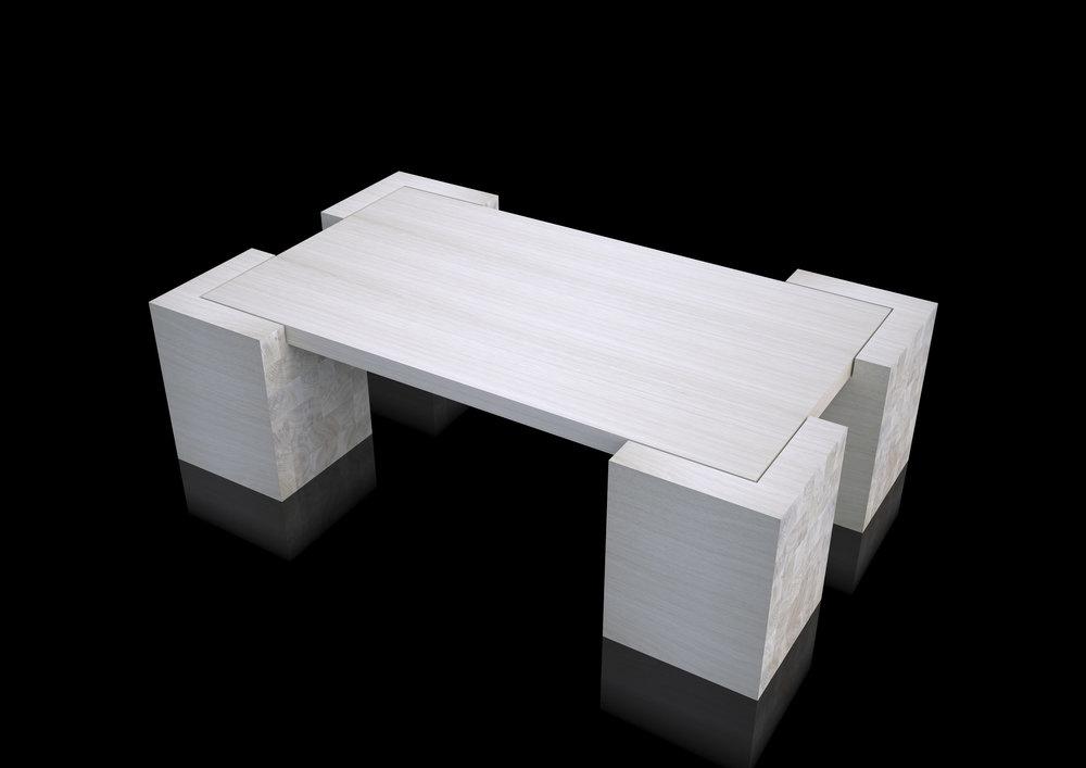 table - whitened massive oak
