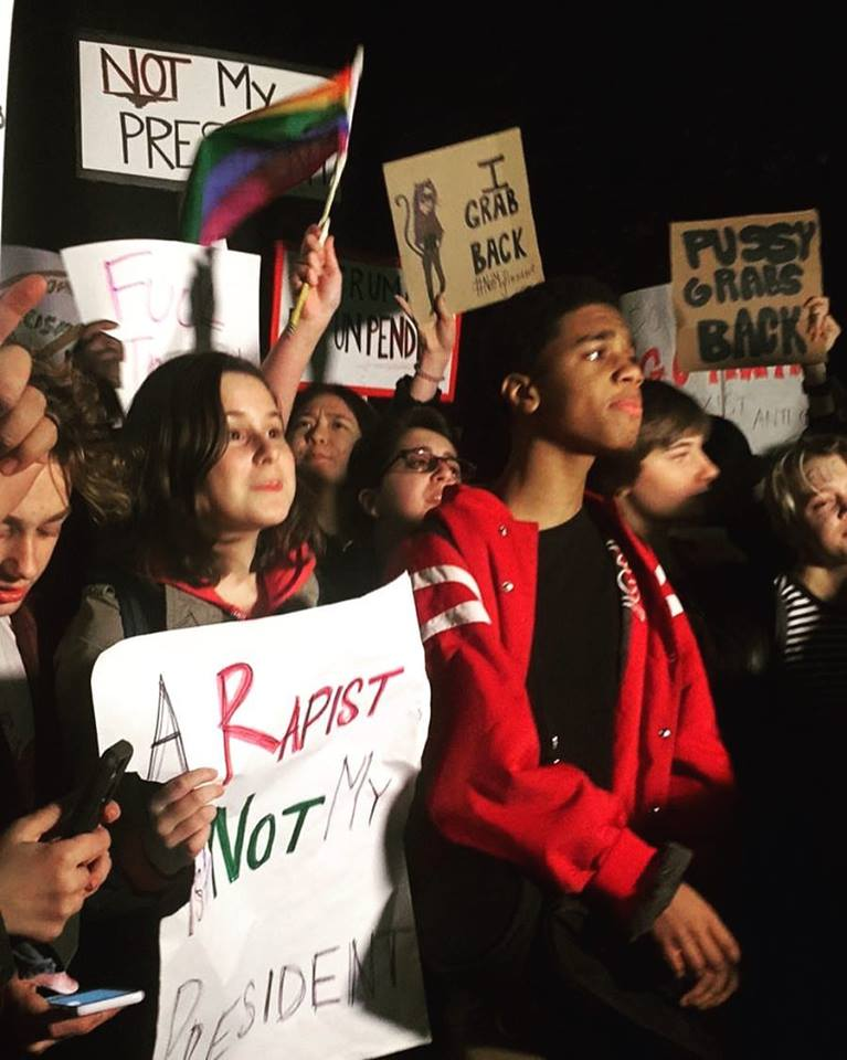 Kids Protest at Columbus Circle in NYC. Credit: Sari Rosenberg