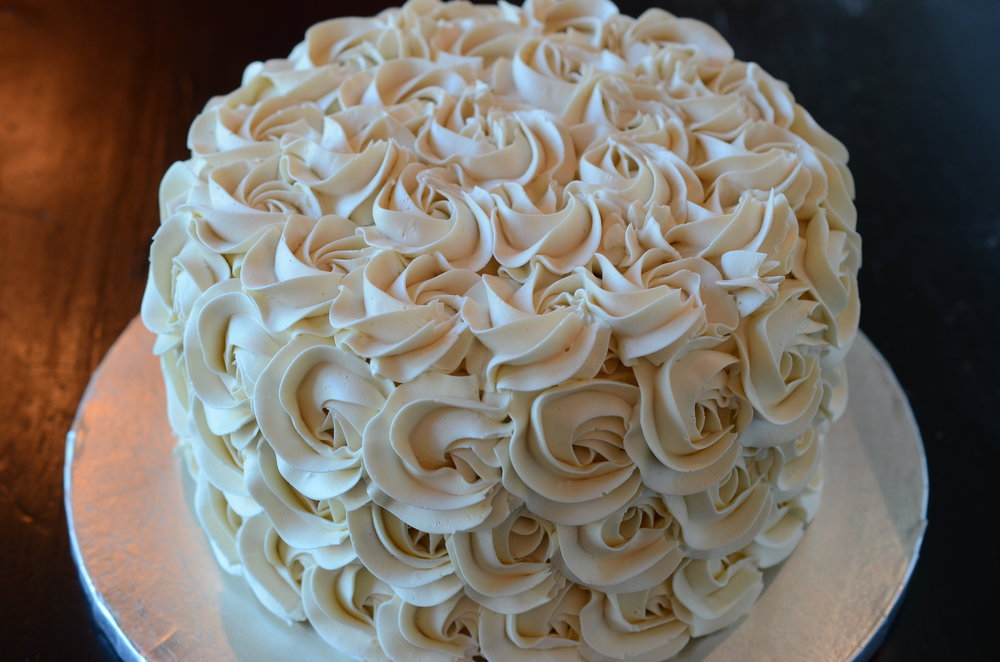 ROSETTES   Beautiful buttercream piped roses. $20 and up