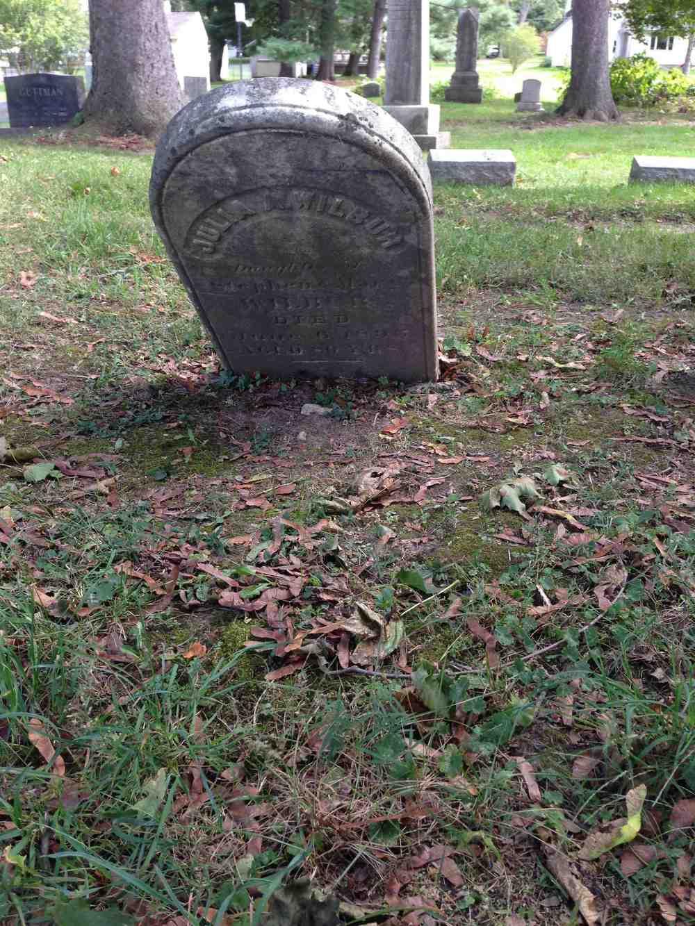 Julia Wilbur grave, Avon, NY