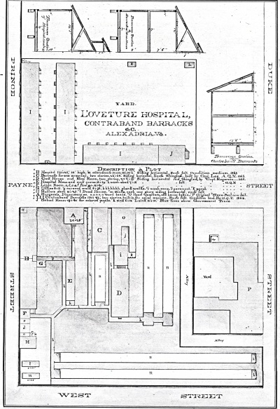 Quartermaster Plan, L'Ouverture Hospital, built 1863-1864, operated 1864-1867.