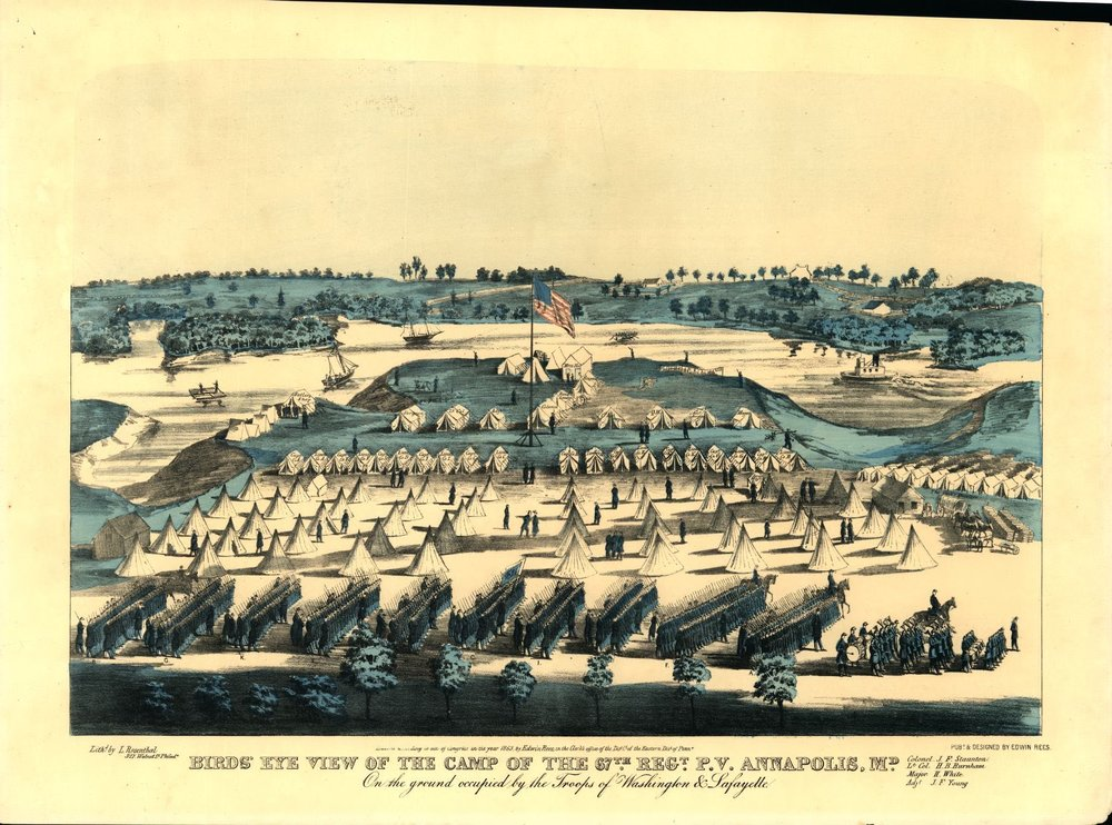 This was the Paroled Prisoners Camp near Annapolis--Alexandria's was similar. Image from Library of Congress.