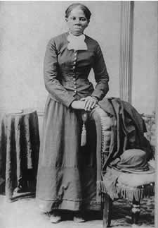 Tubman in the mid-1870s, from Library of Congress.