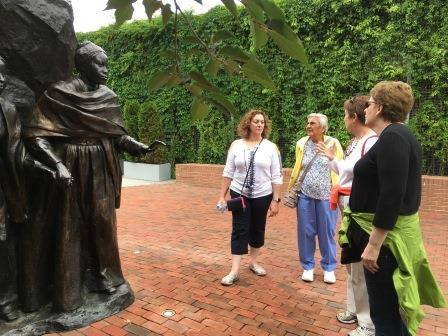 Explaining the story of Mary and Emily Edmunson. Photo courtesy of Joanne Lozar Glenn.