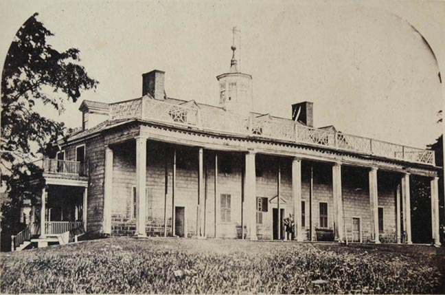 Mount vernon as it looked in the 1850s, when the Mount Vernon Ladies Association purchased it.