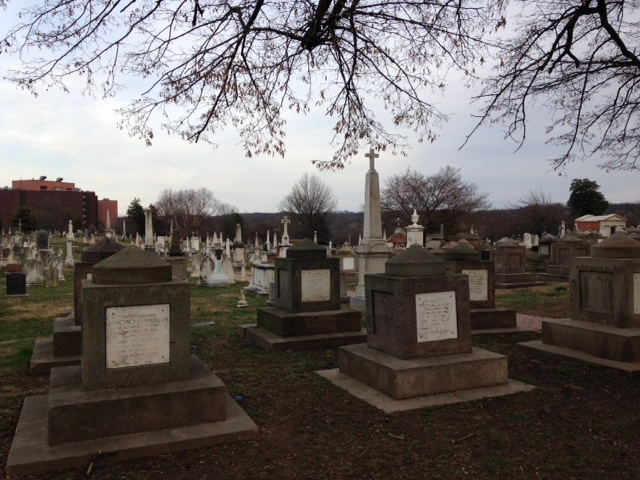 Congressional Cemetery, 6:30 pm on an evening in Late March.