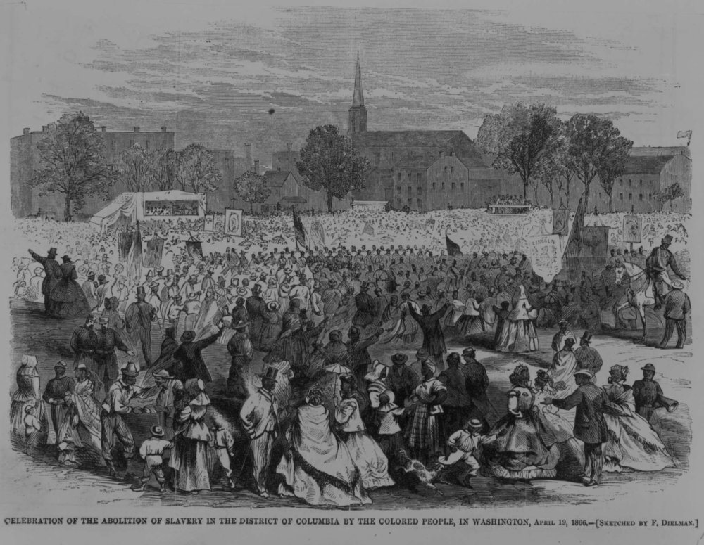 This image was drawn on Emancipation Day, about 8 months later, but gives an idea of the festivities.