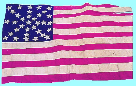 Julia Wilbur sewed this flag in the early 1860s. Image courtesy of Charles Lenhart.