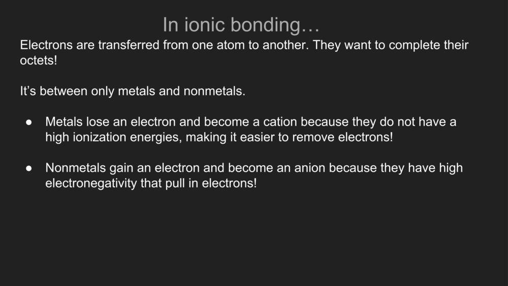 Lewis Dot Structure Ionic Bonds Teens Teach