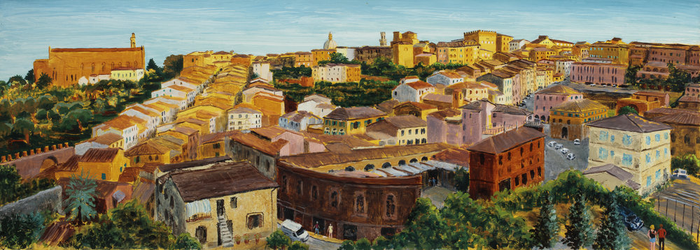Siena, Evening Light (SOLD)