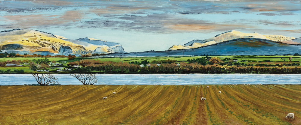 Snowdonia from Anglesey, Boxing Day (SOLD)