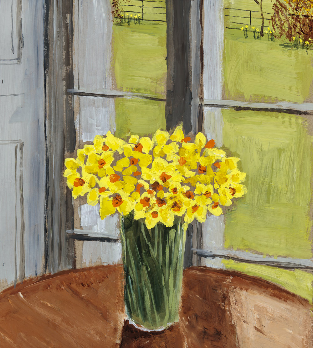 Daffodils, Inside and Outside