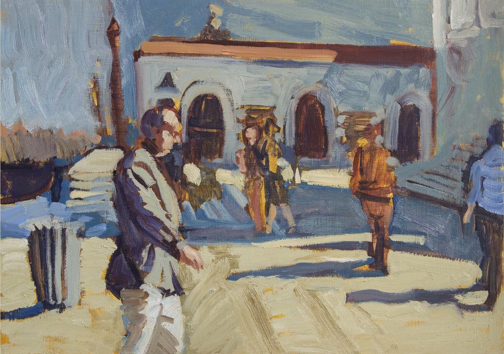 Venice Courtyard Daytime (framed).jpg