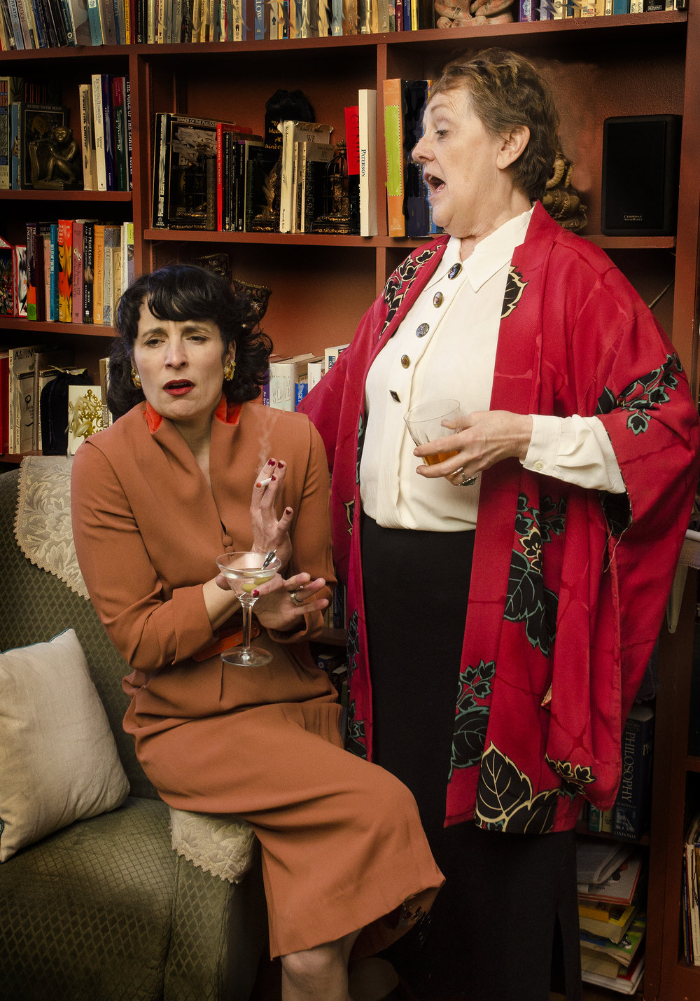 Vanessa Gamble (Lillian Hellman) and Candace Barrett Birk (Gertrude Stein). Photo Credit by Joseph Giannetti.