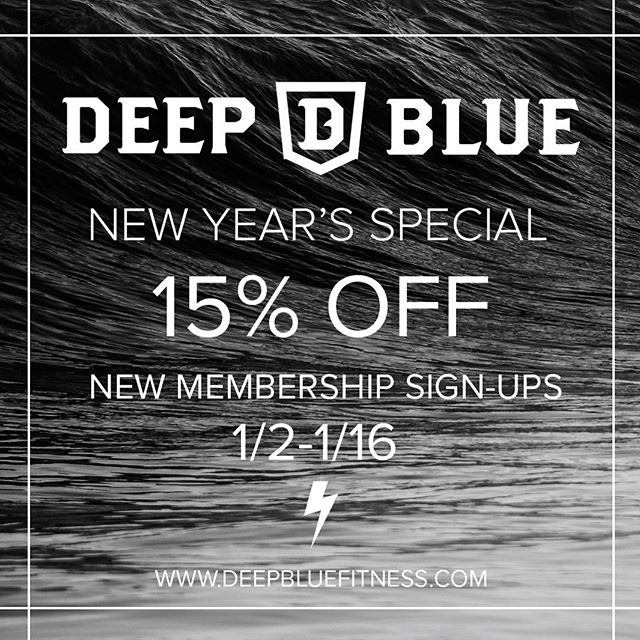 • 2019 Is Here • It's Time To Take Advantage Of Our Only Sale Of The Year • Limited Spots Are Available • All Inclusive Access To Every Program And Class Time • Link In Bio #starttoday #2019 #staywavy #deepbluefitness
