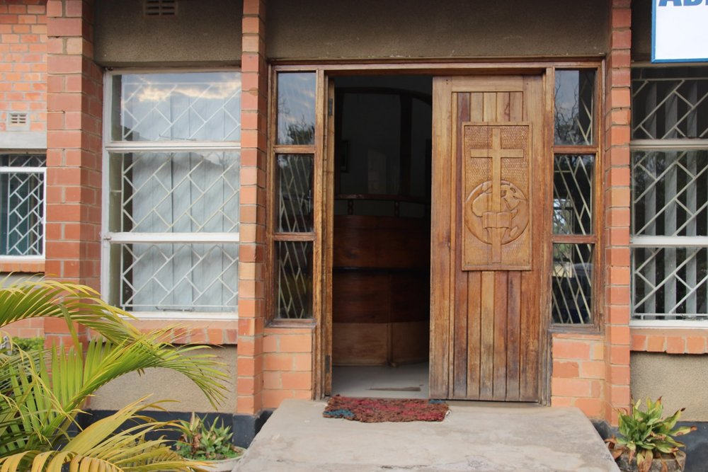 The Chapel doors in Zambia where Eden helped to host an Open Forum on Lesbians and Gays in the United Church of Canada.