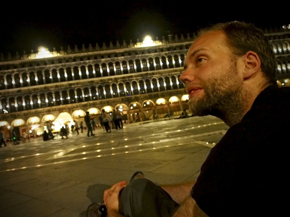 I had the fantastic experience of sitting in St. Mark's Square in Venice at midnight shooting awesome photographs.