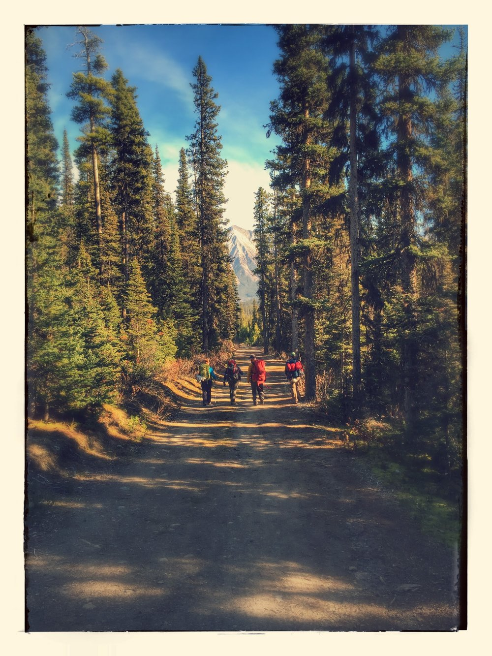 Backpacking off Spray Lakes Road in the Rockies.