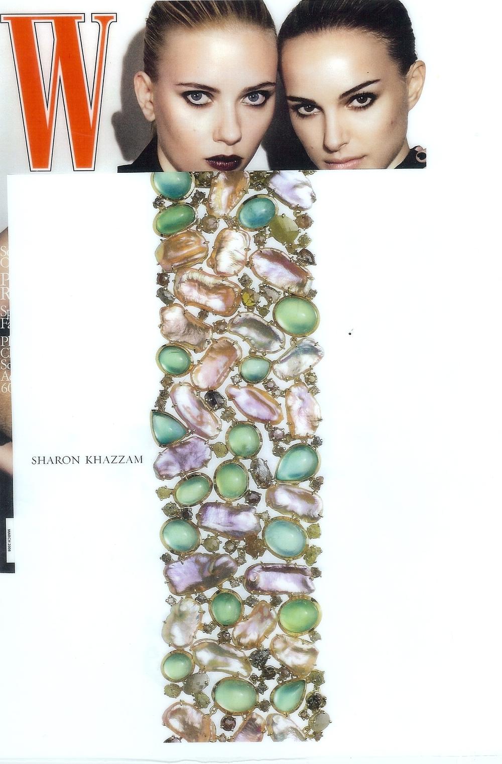 2008-W Magazine-Pearl Melange Bracelet.jpg