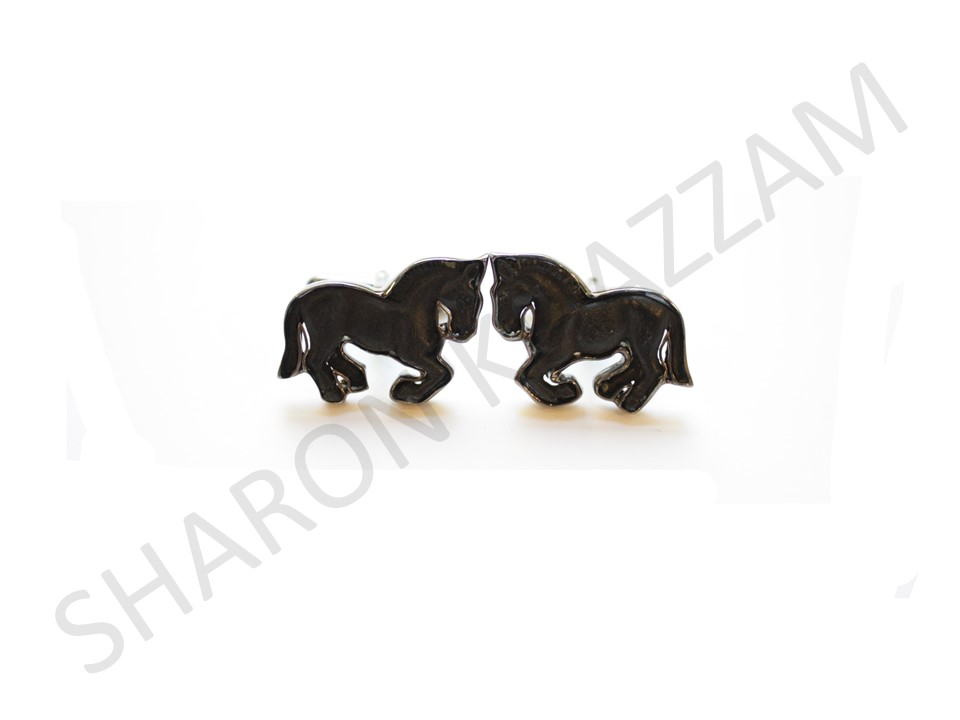 Carved Wooden Horse Cufflinks