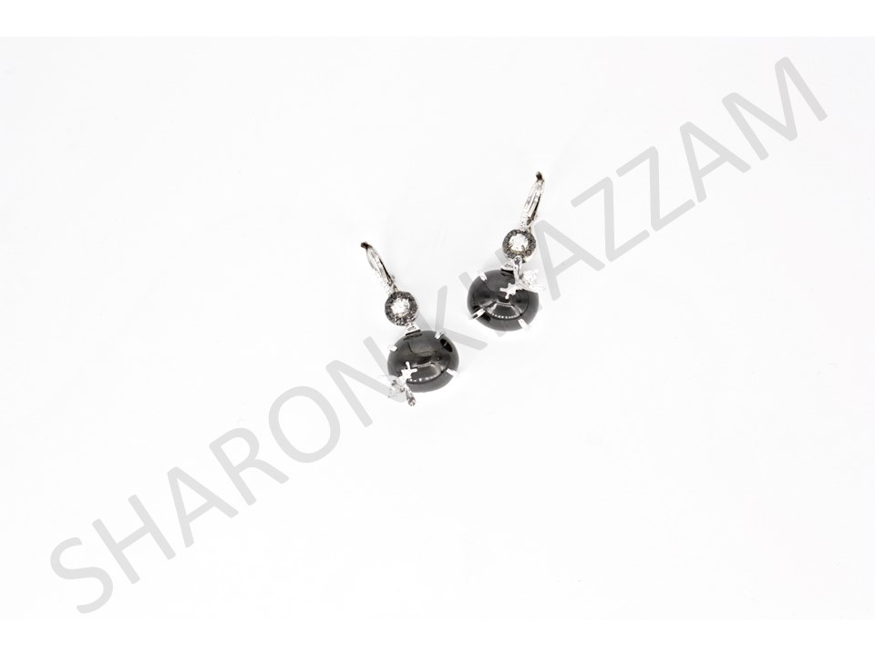 Black Star Diopside Bee Earrings