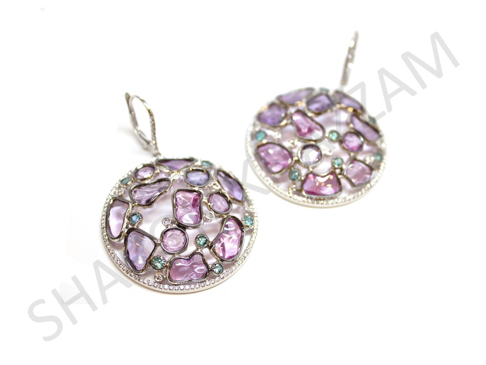 Pink Sapphire Hobi Earrings