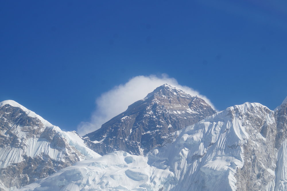 A majestic view of Everest