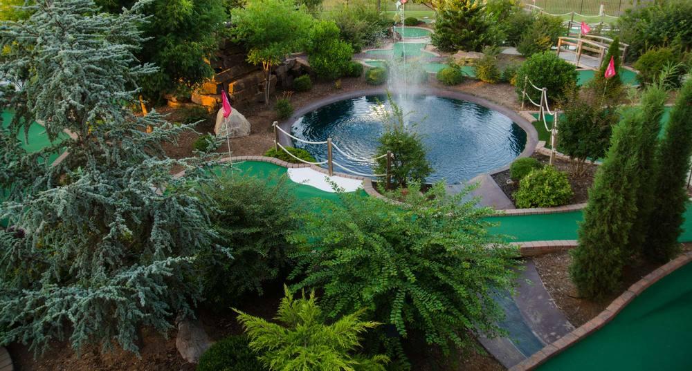 Huge Mini Golf Fountain