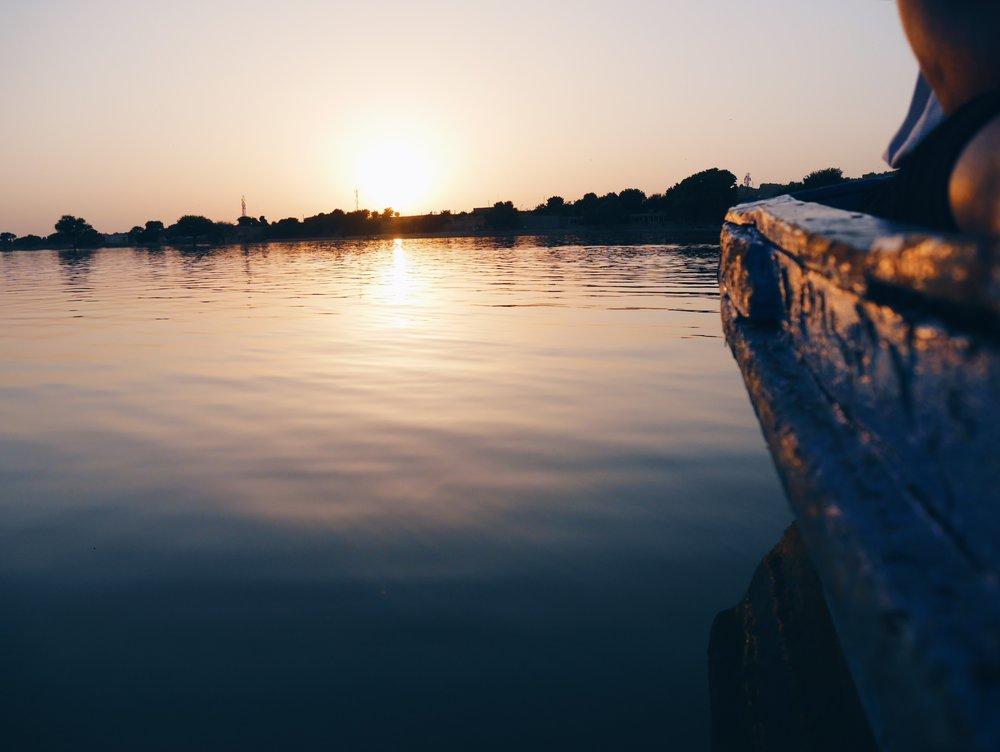 Lake Gadisar, Jaisalmer.  October 2016.