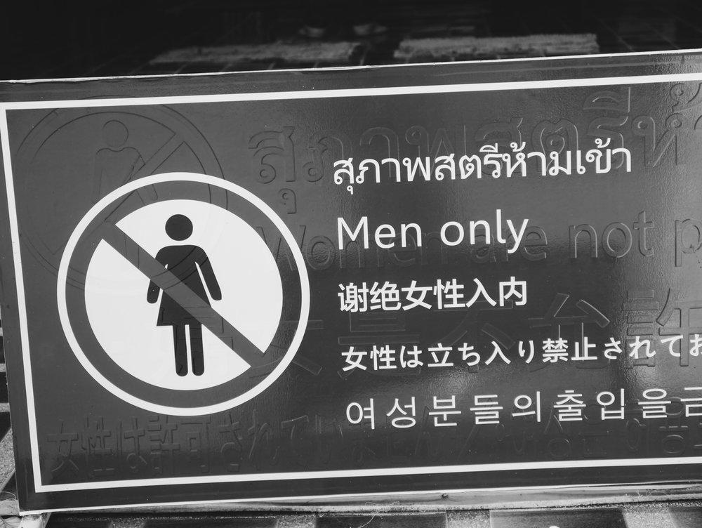 SAY NO TO MENSTRUATING FEMALES ❌