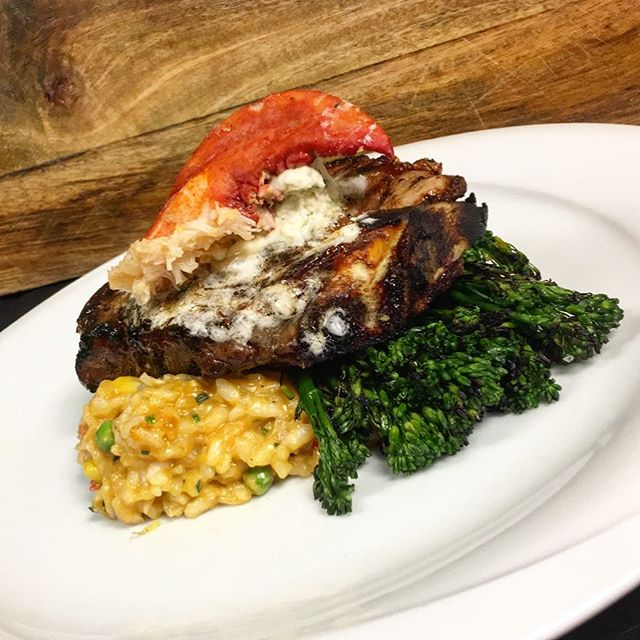 Father's Day Special - Veal KC Strip – Char Broiled Bone in Veal Strip Steak, Boursin Butter, Lobster Risotto and Grilled Broccolini $38 #happyfathersday #williamsville #foodphotography #thisishowweroll #foodporn #steakjoint @mtkbuffalo #fortheloveofsteak🙈😂