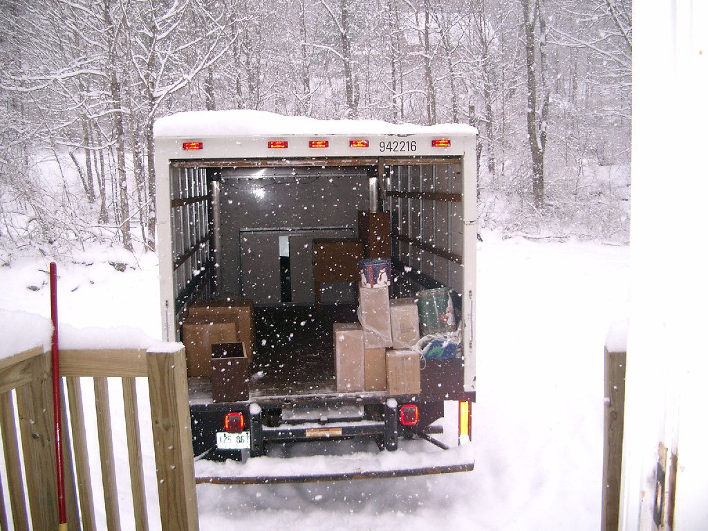 Frozen Moving Truck