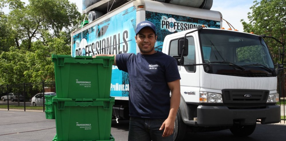 Professional Moving Company using Chicago GreenBoxes