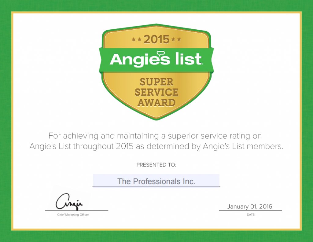 The Pro Move 2015 Service Award - Angies List
