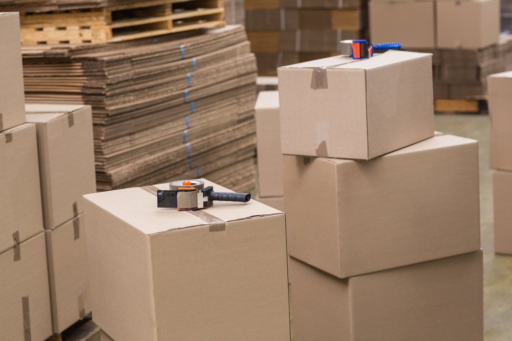professional packing supplies in warehouse